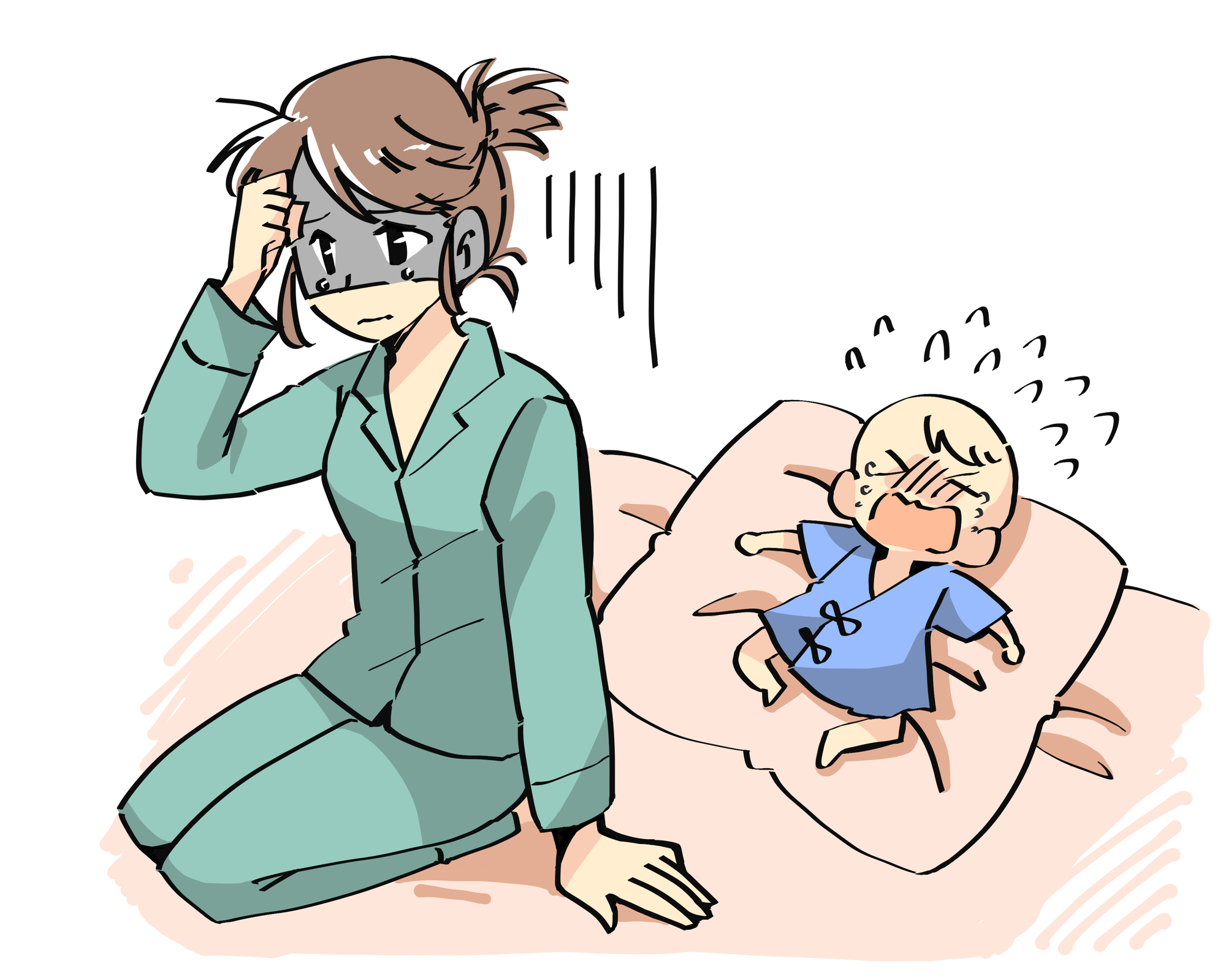 赤ちゃんの寝ぐずりの原因と対策を解説!うまく付き合ってストレス緩和!